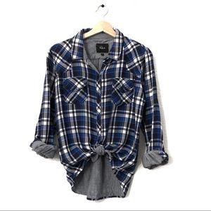Rails Anthropologie Blue Plaid Button Down Shirt